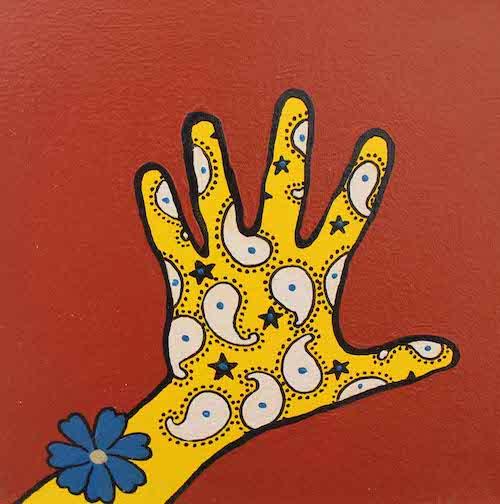 Hand acrylic and enamel