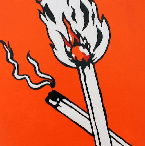 Matches pop art Kevin de Klerk
